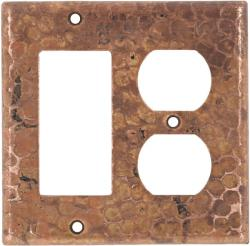 Rocker/Outlet Natural - Mexican Hammered Copper Switch Plates