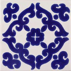 Mexican Tile Blue Kiosco Terra Nova Mediterraneo Ceramic