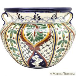 Large Planter 24 - Mexican Talavera Large Round Planter