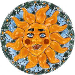 Medallion 3 Mexican Talavera Wall Sun Art