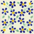 Violets - Handcrafted Mexican Tile