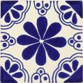 Blue Isabel - Ceramic Hand painted Mexican Talavera Tile