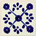Blue Marguerite - Decorative Mexican Tile