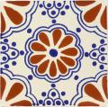 Terra Cotta & Blue Lace - Mexican Ceramic Tile