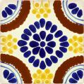 Chapala Blue - Ceramic Handcrafted Mexican Talavera Tile Decorative
