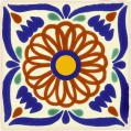 Universe - Ceramic Hand painted Mexican Talavera Tile