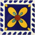 Mono Azul - Amarillo - Decorative Mexican Tile