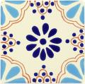 Turquoise & Blue Lace - Ceramic Handcrafted Mexican Talavera Tile Decorative