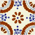 Madrid 2 -  Mexican Talavera Classic Handcrafted Tile
