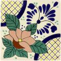 Lacandon - Ceramic Handcrafted Mexican Talavera Tile Decorative