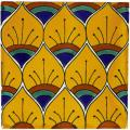 Yellow Peacok - Handcrafted Mexican Tile