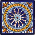 Columna - Ceramic Hand painted Mexican Talavera Tile