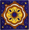 Reloj - Ceramic Hand painted Mexican Talavera Tile