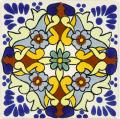 Grace - Ceramic Hand painted Mexican Talavera Tile