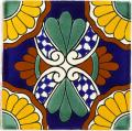 Xochitl - Ceramic Handcrafted Mexican Talavera Tile Decorative