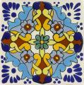 Turquoise Grace - Mexican Ceramic Decorative Tile
