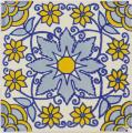 Blue Monarca - Ceramic Handcrafted Mexican Talavera Tile Decorative