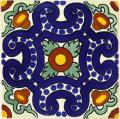 Tampico - Ceramic Handcrafted Mexican Talavera Tile Decorative