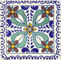 Zamora - Mexican Talavera Handcrafted Decorative 2 Tile