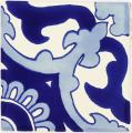 Blue Capri - Handcrafted Mexican Tile
