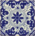 Compass - Ceramic Handcrafted Mexican Talavera Tile Decorative