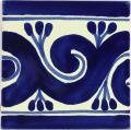 Ola Azul - Ceramic Handcrafted Tile Mexican Border