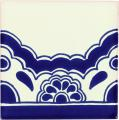 Blue Lace Border - Mexican Ceramic Border Tile