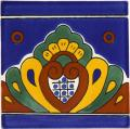 Blue Shell - Mexican Ceramic Border Tile