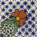 Flor - Ceramic Hand Painted Mexican Border Tile