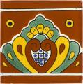 Terracotta Shell - Mexican Ceramic Border Tile