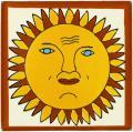 Sun - Mexican Talavera Sun & Moon Tile