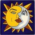 Sun & Moon - Handcrafted Mexican Talavera Sun & Moon Tile