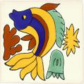 Dancing Fish - Mexican Talavera Animal Tile