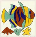 Rainbow Fish - Mexican Talavera Animal Tiles
