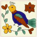 Bird 4 - Mexican Talavera Animal Tile