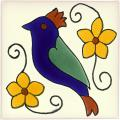 Bird 3 - Mexican Decorative Talavera Animal Tile
