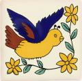 Bird 1 - Handcrafted Mexican Talavera Animal Tile