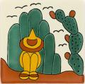 Ranchero 2 - Handpainted Mexican Talavera Southwest Tile