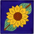 Sunflower 2 - Handcrafted Mexican Talavera Flower Tile