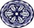 Blue Lace - Handcrafted Mexican Talavera Ceramic Sink