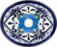 Polanco 3 - Mexican Talavera Oval Drop-in Lavatory Sink