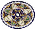 San Miguel - Talavera Oval Drop-in Mexican Sink
