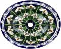 Callalilies - Mexican Talavera Oval Drop- in Sink