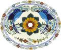 Hummingbird - Handpainted Mexican Talavera Oval Drop-in Sink