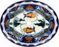 Acapulco - Mexican Talavera Oval Drop- in Sink
