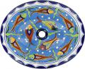 Cancun - Handcrafted Talavera Mexican Oval Drop-in Sink