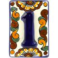 3-D - Mexican Handcrafted Ceramic Tile House Number