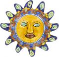 N. 2 - Handpainted Mexican Talavera Wall Sun Art