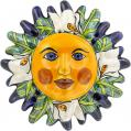 N. 8 - Handpainted Mexican Talavera Wall Sun Art