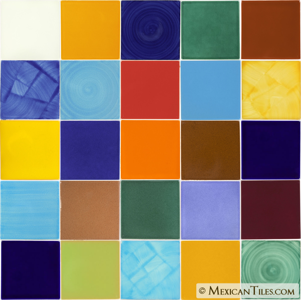 Mexican Tile Mexican Tile Sets Mixed Patterns Solid